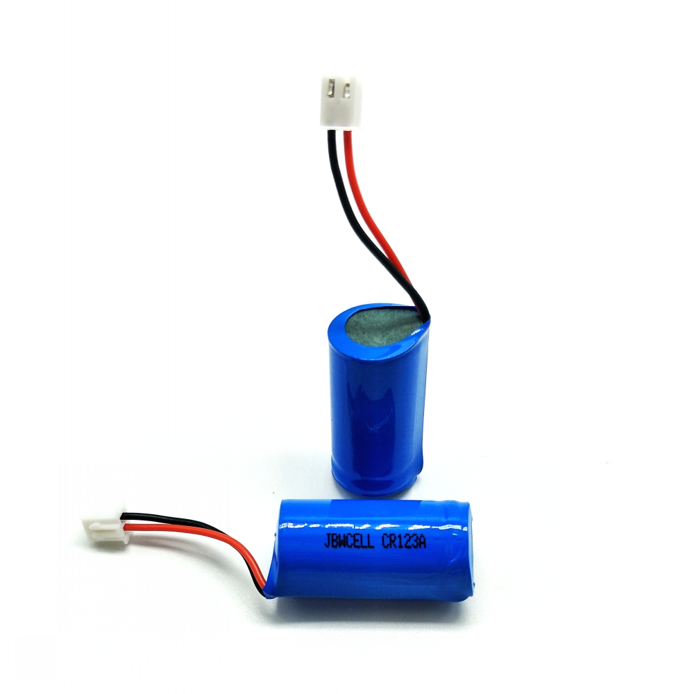 CR123A 3V 1500mAh lithium primary battery with wire