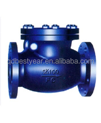 JIS F7372/7373 5/10K casting iron marine swing check valves
