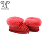 Girl sheepskin leather toddler baby shoes for kids wholesale