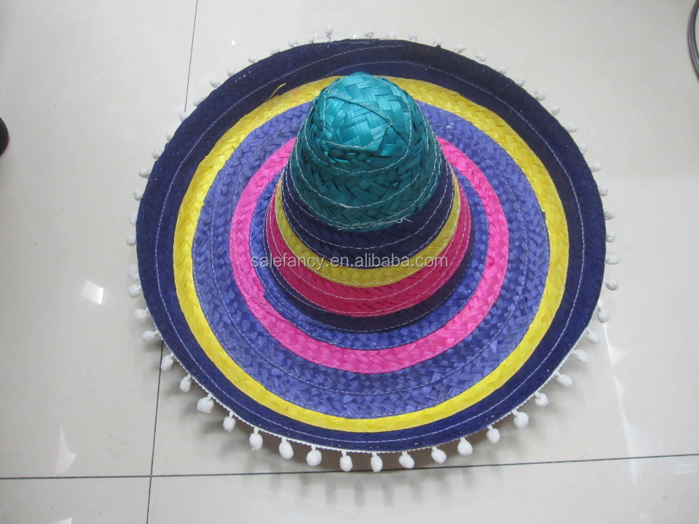 Hot sale mexican hat cheap custom made sombrero QHAT-5381