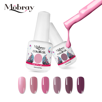 Mobray Long Lasting UV Gel nail polish wholesales Hot sales colors 15ml