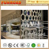 Wholesale MDF Plywood Retail Jewellery Shop Interior Design Display Counters with LED Lights