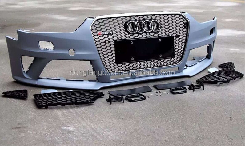 RS4 body kits for Audi A4 bumper, grill and other kits the complete set front bumper kits