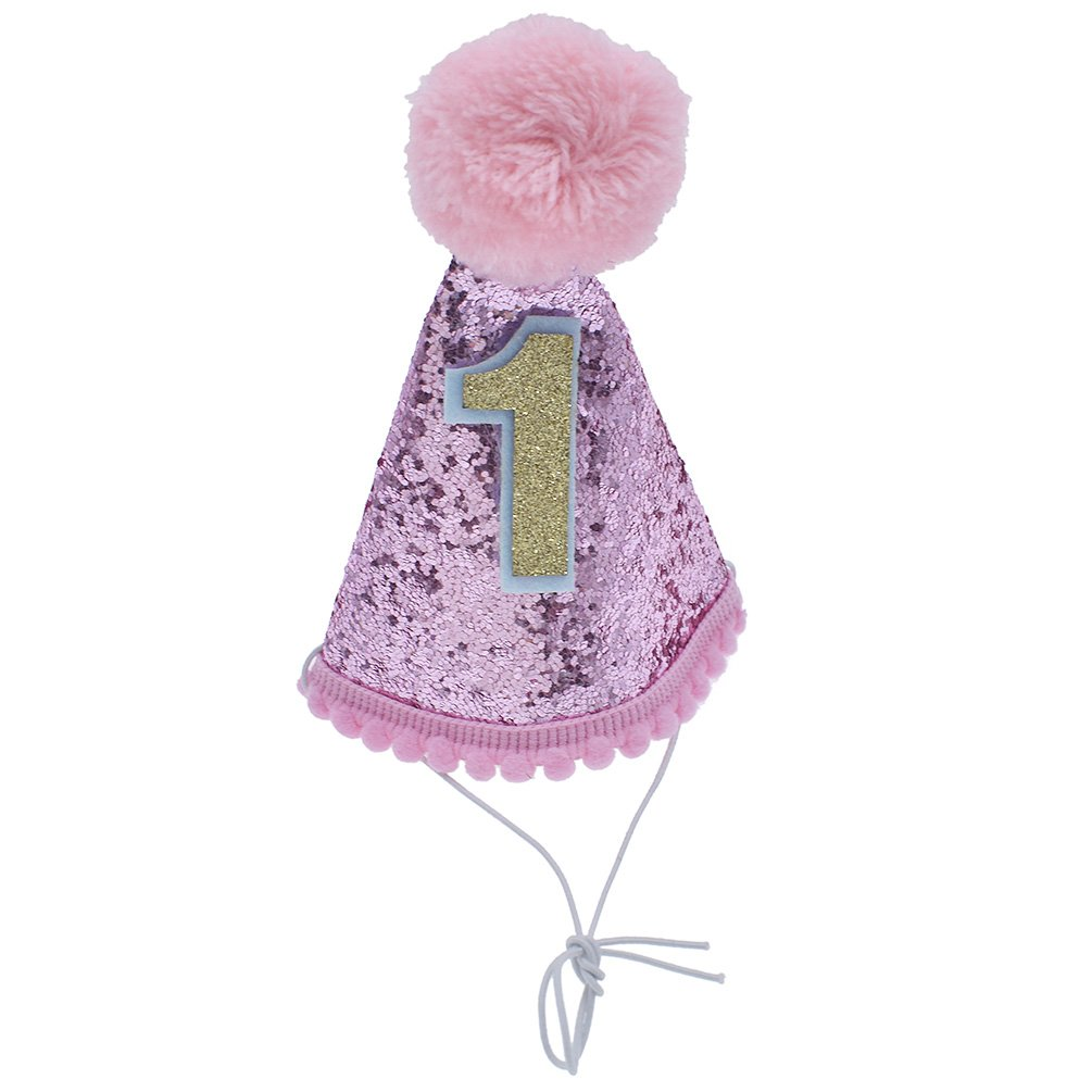 0c0f2c12267 Towashine Glitter Dog First Birthday Hat for 1-year-old Small Doggy Cat  Kitty