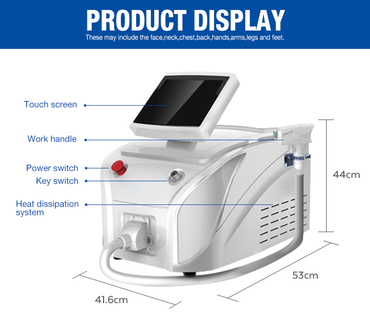 Big Power portable Laser Diode 808nm /808 Diode Laser Hair Removal /808 Laser price