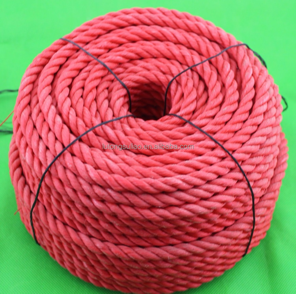 POLYPROPYLENE ROPE, 3-strand Polypropylene Rope red pe rope in coil