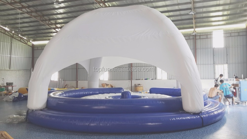 Floating Inflatable <strong>Boat</strong> With Tent Cover