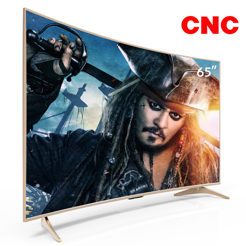 Oro Color Lcd televisión curvado 65 pulgadas 4 K Ultra hd Smart Led TV