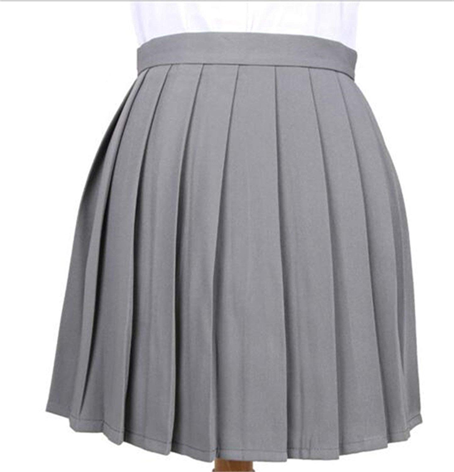 02f9dc735 Get Quotations · Stephomcook High Waist Pleated Skirt Anime School Uniform  Student Girl Pleated Skirt for Girl