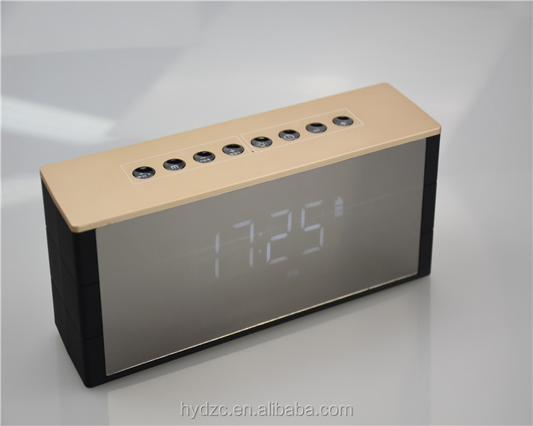 Bluetooth Speaker With LED Display Alarm Clock FM Radio+Remote Controller For iPhone/Android
