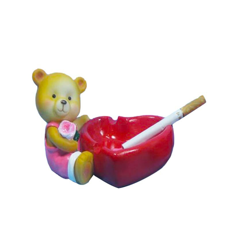 Cute ashtrays resin ashtray with cartoon bee figurine fo rhome decoration