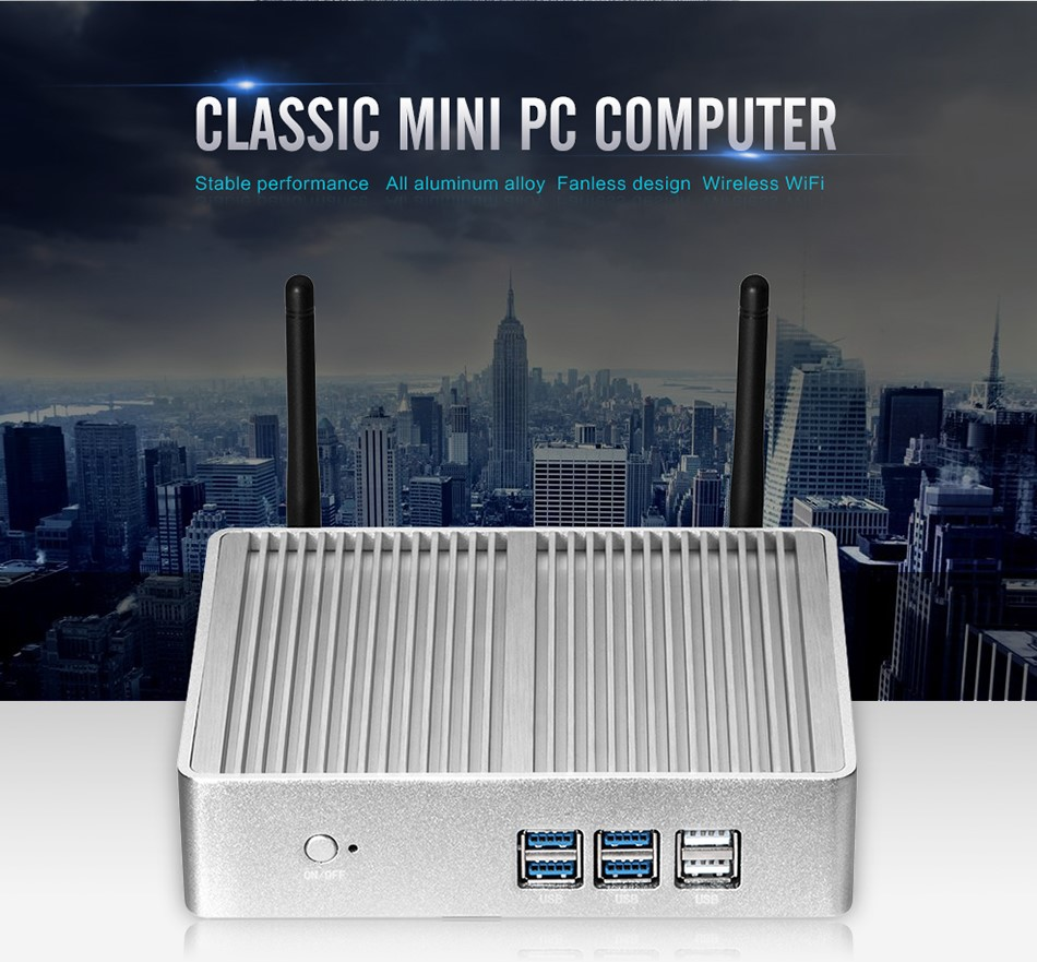 XCY Mini PC 5005U Dual Core 2.0GHz barebone computer indows10 4K video HTPC