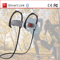 Mini Multi-point Leather Handsfree Cell Phone Ear Hook Bluetooth Headset Q10
