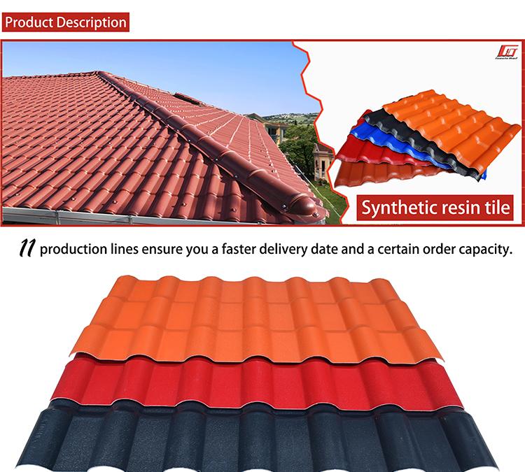 멕시코 30 년 warranty 2.5 미리메터 상세컷이랑 비슷한것 green pvc spanish style 지붕 타일