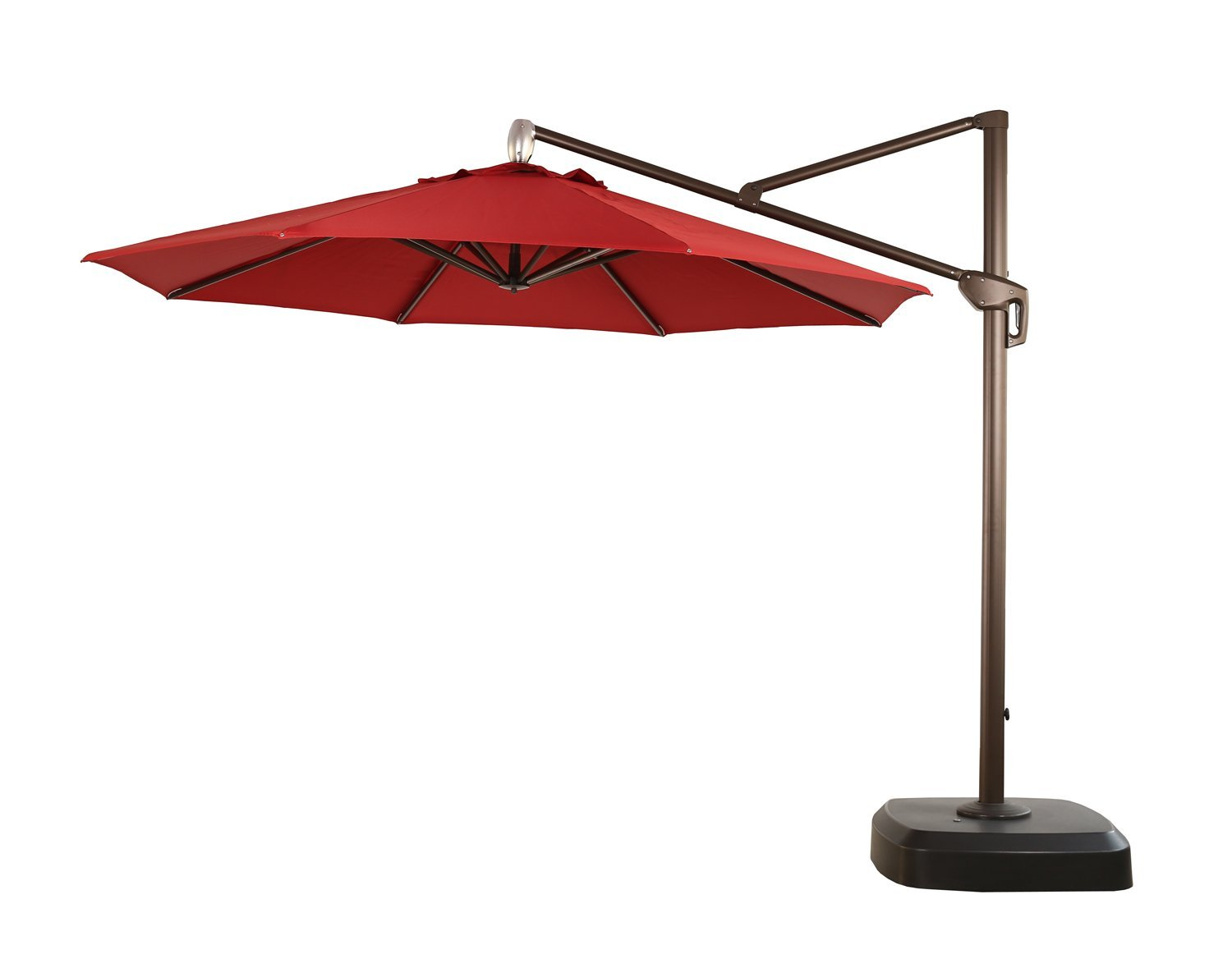 Ulax Furniture 360 Rotation 11 Ft Deluxe Outdoor Offset Hanging Market Umbrella Cantilever Patio