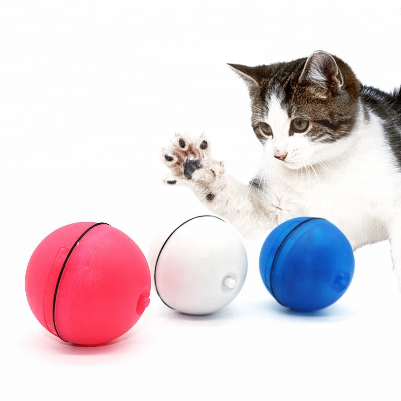Cat Supplies 2019 Hot Usb Charging Led Laser Red Light Electric Rolling Ball Funny Pet Cat Dog Toys Pet Cat Interactive Laser Magic Toy Ball Pet Products