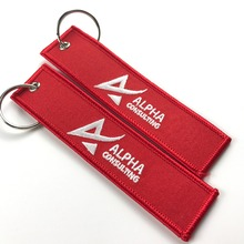 custom aviation gifts keychain embroidery design key chain