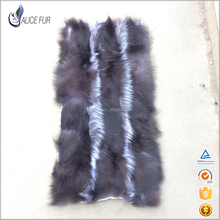China Factory suppliers Real silver fox fur natural color plate Large Fox Animal skin rugs Cheap price