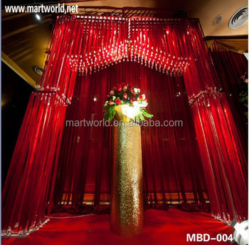 Red wedding stages decorations crystal background wedding red wedding stages decorations crystal background wedding decorations mbd 004 junglespirit Choice Image