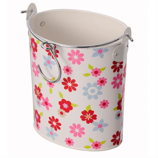 Garden Flower Pattern Pegs Container