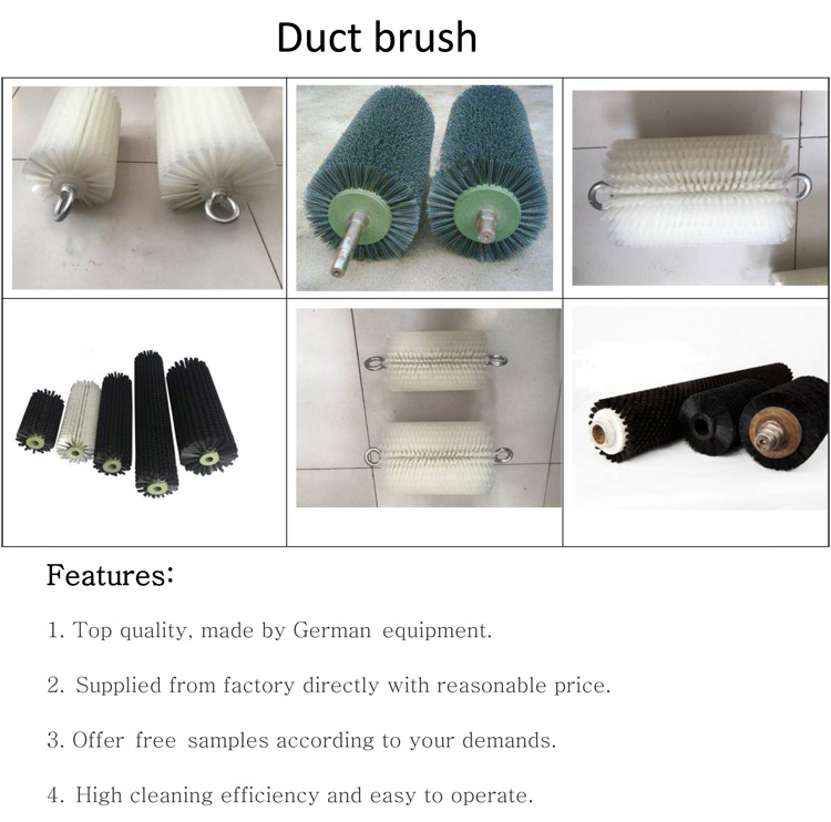 hot sale 	cylinder nylon brush roller high quality Spiral Round Brush Cylinder Sweeping Brushes custom duct brush
