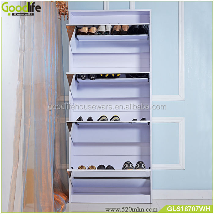 large wooden shoe cabinet shoe racks with mirror