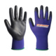 18G polyester Industrial working top quality pu palm gloves