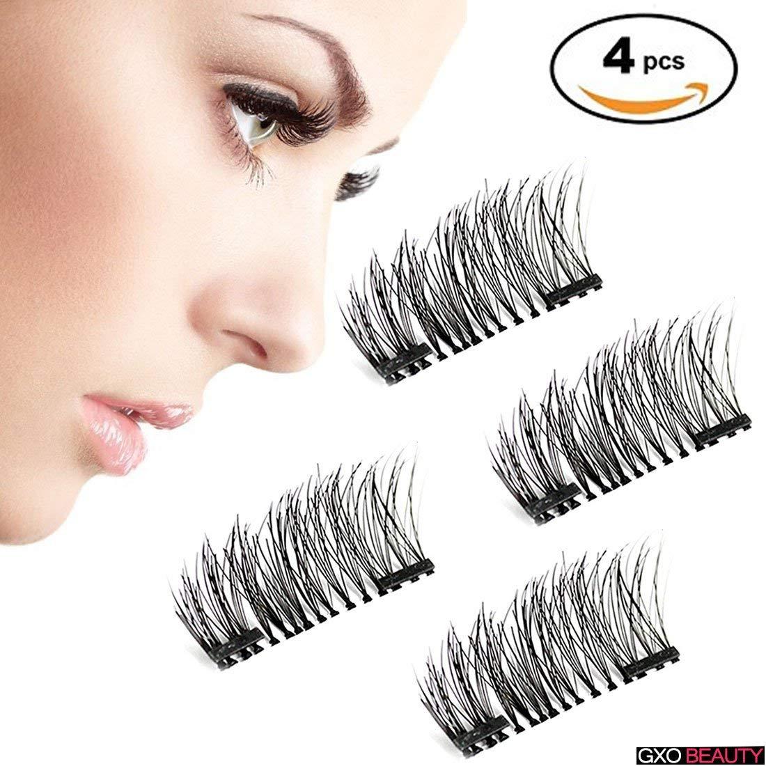 791b05cf63a Get Quotations · Magnetic 3D False Eyelashes False Lashes Hand-made Fake  Eyelashes Thicker Natural & Reusable 1