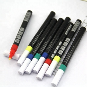 Oil-based opaque ink paint marker pen 6 Colors Set Paint Oil Based Permanent Marker Pen Glass Metal Wood Waterproof