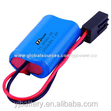Wholesale portable sound 18650 18500 14650 battery pack / li-ion battery 7.4v 1100mah