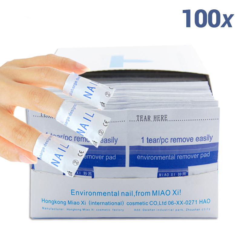 2015 nail remover 100Pcs lot Nail Art gel polish Lacquer Easy cleaner gel nail Wraps UV