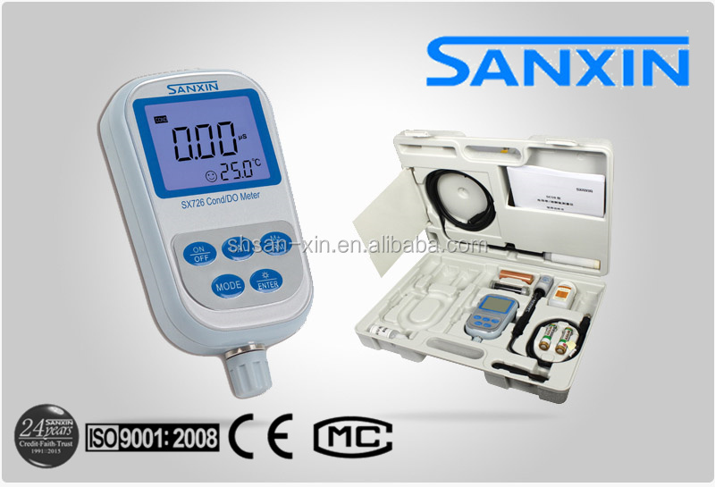 SANXIN SX726 Portable Handheld Conductivity / Dissolved Oxygen / DO / TDS / Salinity / Resistivity Meter (food analysis, tanks)