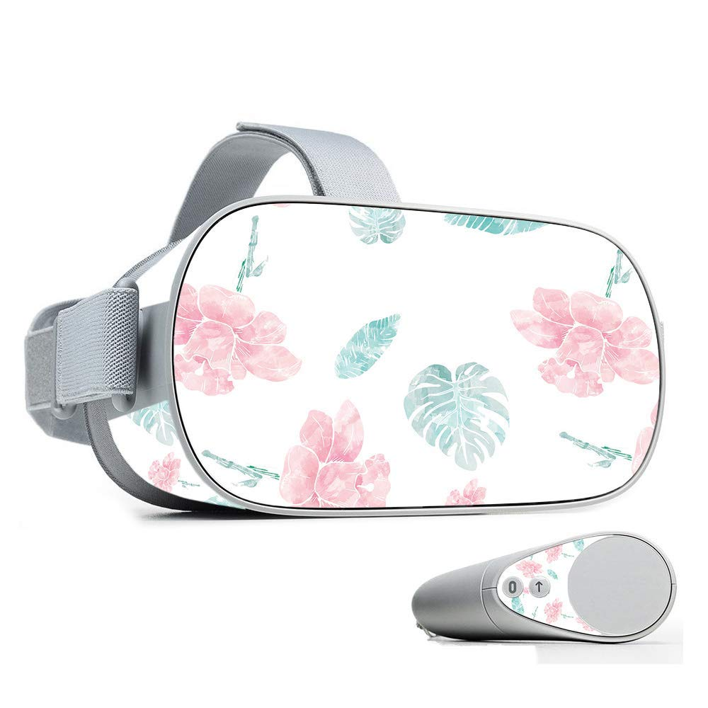 MightySkins Skin for Oculus Go Mobile VR - Paper Flowers | Protective, Durable, and Unique Vinyl Decal wrap Cover | Easy to Apply, Remove, and Change Styles | Made in The USA