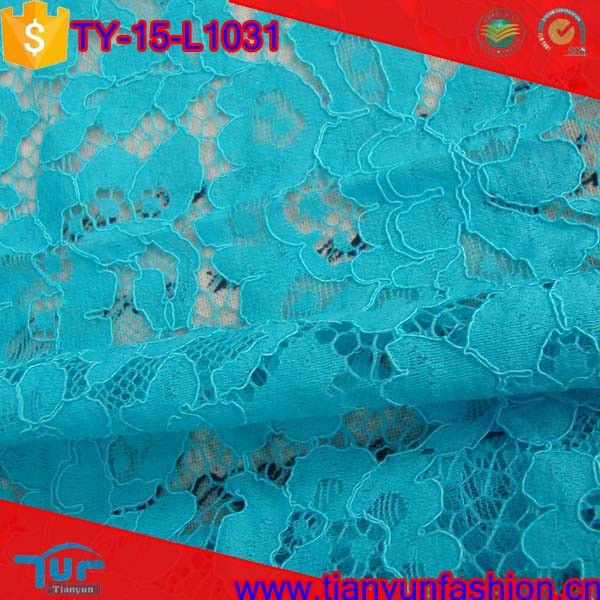 small floral cord knitting mesh fashion custom hand cut swiss lace fabrics