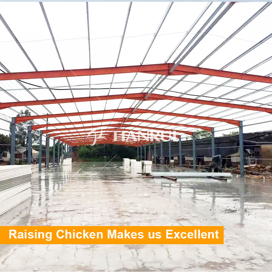 Chicken House Farm steel structure design poultry farm shed, steel structure design
