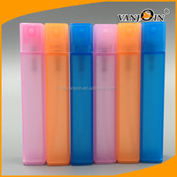 Colorful Portable Square Plastic Spray Perfume Pen Bottle 10ml