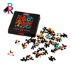 Custom die-cut Printable Paper Cardboard Jigsaw Puzzle Wholesale