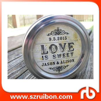 Custom Wedding Label For Canning Jar Sticker Weeding Packaging