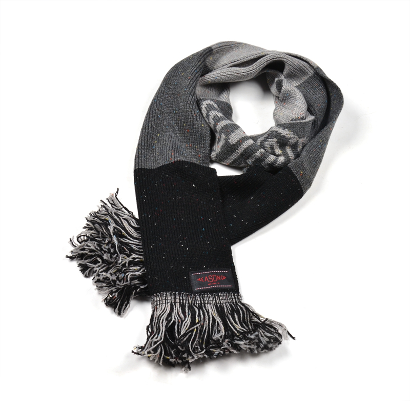 High quality knit striped scarf pattern knitted mens scarf
