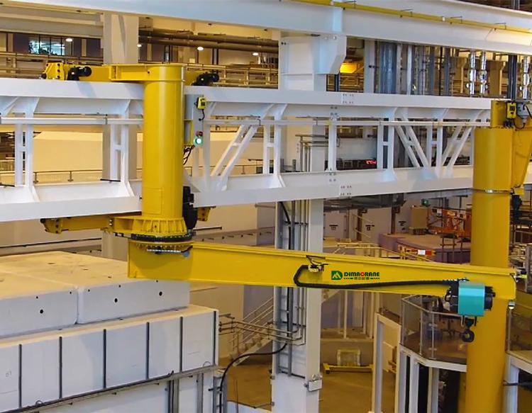 5 ton Wall mounted travelling 360 degree rotating jib crane workshop