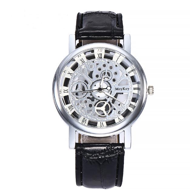 Free shipping 2018 China Alibaba fashion dress men watches skeleton stainless steel quartz wrist watches luxury MW30 фото