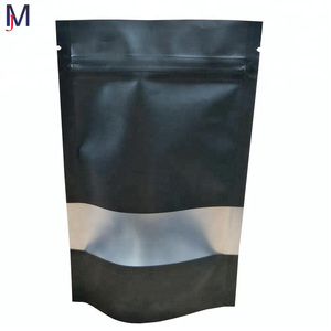Color Printed Biodegradable stand up pouch with zipper for coffee package