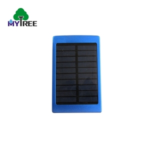 Best sellers led light dual usb ports China universal portable power bank solar panel mobile charger