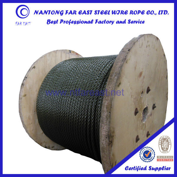 Good applicability DIN/GB/T 6x37+FC/IWRC/IWSC -19.5mm ungalvanized/galvanized winding wire rope