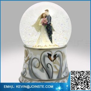 Wedding snow globe,wedding water globe