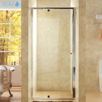 Customized Size Pivot Hinge Shower Door with Toughened Glass