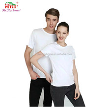 Popular cotton spandex blend soft round T Shirt