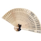 Wholesale Hot Sale Wood Fans Personalized Party Decoration Fashion Sandalwood Bowknot Wedding Favors Gift Folding Fan