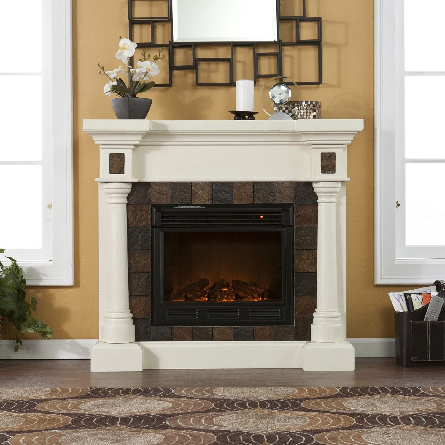 com electric infrared home duraflame stove efficient amazon energy dp quartz bronze dfi fireplace kitchen