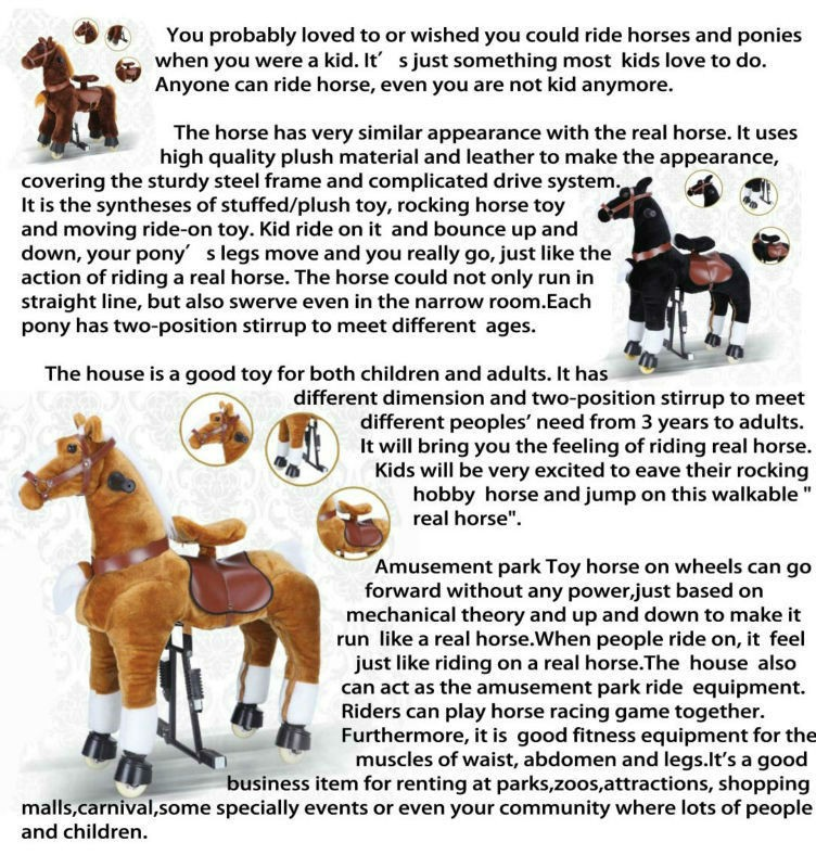 Hi L Size Big Toy Horse Rocking Horses For Adults Lifelike Toy